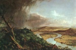 Thomas Cole - paintings - The Connecticut River near Northampton