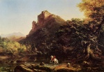 Thomas Cole  - paintings - The Mountain Ford