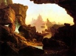 Thomas Cole  - paintings - The Subsiding of the Waters of the Deluge