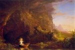 Thomas Cole  - paintings - The Voyage of Life (Childhood)