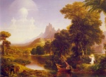 Thomas Cole  - paintings - The Voyage of Life (Youth)