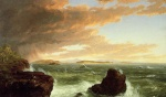 Thomas Cole  - paintings - View Across Frenchmans Bay from Mount Desert Island after a Squall