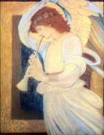 Edward Burne Jones - Bilder Gemälde - Engel
