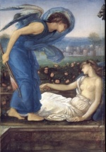 Edward Burne Jones - Bilder Gemälde - Cupid finding Psyche