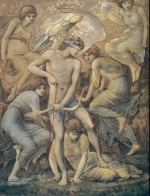 Edward Burne Jones - Bilder Gemälde - Cupid hunting Fields