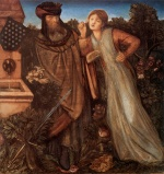 Edward Burne Jones - Bilder Gemälde - King Mark and La Belle Iseult