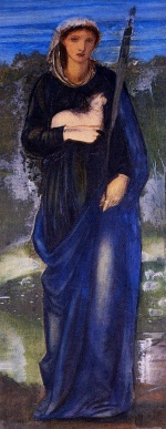 Edward Burne Jones - Bilder Gemälde - Heilige Agnes