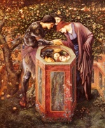 Edward Burne Jones - Bilder Gemälde - The Baleful Head