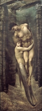 Edward Burne Jones - Bilder Gemälde - The Dephts of the Sea
