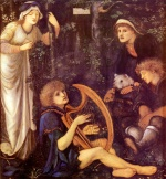 Edward Burne Jones - Bilder Gemälde - The Madness of Sir Tristram