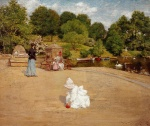 William Merritt Chase - Bilder Gemälde - A bit of the Terrace