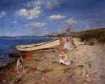 William Merritt Chase - Bilder Gemälde - A Sunny Day at Shinnecock Bay