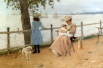 William Merritt Chase - Bilder Gemälde - Nachmittag am See