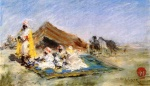 William Merritt Chase - Bilder Gemälde - Arab Encampment