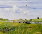 William Merritt Chase - Bilder Gemälde - At the Boat Landing