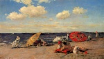 William Merritt Chase - Bilder Gemälde - At the Seaside