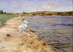 William Merritt Chase - Bilder Gemälde - Bath Scene Morning at Canoe Place