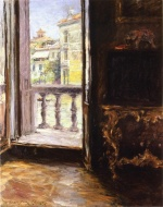 William Merritt Chase - Bilder Gemälde - Venetian Balcony