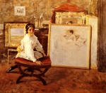 William Merritt Chase - Bilder Gemälde - Did You Speak to me