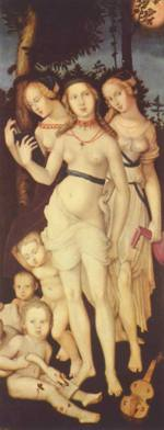 Hans Baldung - paintings - Harmony Of The Three Graces