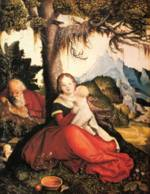 Hans Baldung - paintings - Rest on the Flight to Egypt