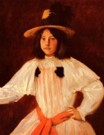 William Merritt Chase  - Bilder Gemälde - The Red Sash