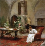 William Merritt Chase  - Bilder Gemälde - Der Song