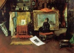 William Merritt Chase  - Bilder Gemälde - The Tenth Street Studio