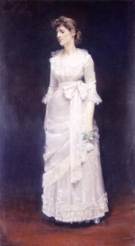 William Merritt Chase  - Bilder Gemälde - The White Rose (Miss Jessup)