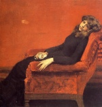 William Merritt Chase  - Bilder Gemälde - A Young Orphan