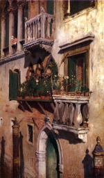 William Merritt Chase  - Bilder Gemälde - Venedig
