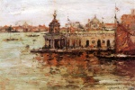 William Merritt Chase  - Bilder Gemälde - Venice View of the Navy Arsenal