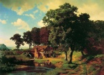 Albert Bierstadt - paintings - A Rustic Mill