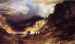 Albert Bierstadt - paintings - A Storm in the Rocky Mountains