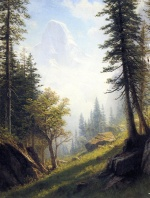 Albert Bierstadt - paintings - Among the Bernese Alps