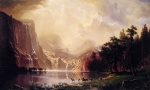 Albert Bierstadt - paintings - Among the Sierra Nevada Mountains