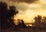 Albert Bierstadt - paintings - An Indian Encampment
