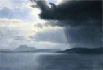 Albert Bierstadt - paintings - Approaching Thunderstorm on the Hudson River