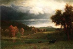 Albert Bierstadt - paintings - Autumn Landscape (The Catskills)