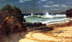 Albert Bierstadt - paintings - Beach at Nassau
