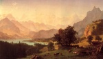 Albert Bierstadt - paintings - Bernese Alps