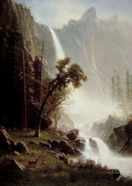 Albert Bierstadt - paintings - Bridal Veil Falls