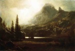 Albert Bierstadt - paintings - By a Mountain Lake