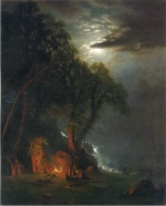 Albert Bierstadt - paintings - Campfire Site Yosemite