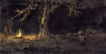 Albert Bierstadt - paintings - Campfire Yosemite Valley
