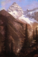 Albert Bierstadt - paintings - Canadian Rockies Asulkan Glacier