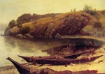 Albert Bierstadt - paintings - Canoes