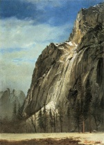 Albert Bierstadt - paintings - Cathedral Rocks (A Yosemite View)