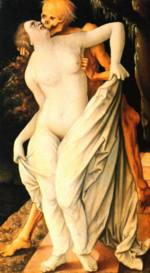 Hans Baldung - paintings - Death and the Maiden