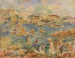 Pierre Auguste Renoir - paintings - Am Strand von Guernesey